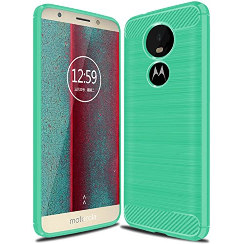 Moto E5 Play Case, Moto E5 Cruise Case,Suensan TPU Shock Absorption Technology Raised Bezels Protective Case Cover for Motorola Moto E5 Play 2018 (Mint Green)