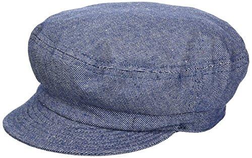 Brixton Men's Fiddler Greek Fisherman Hat, denim, Medium