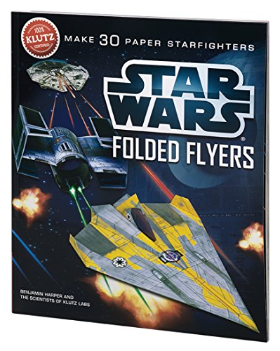 Klutz Star Wars Folded Flyers: Make 30 Paper Starfighters Craft Kit First Airplane Kit