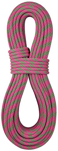 BlueWater Ropes Lightning Pro 9.7 mm Double-Dry Climbing Rope-Pink/Green-60 m