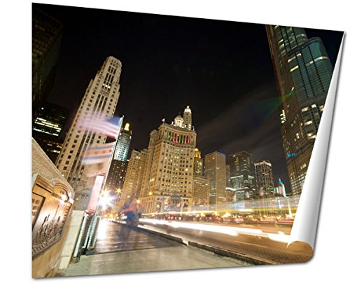 Ashley Giclee Fine Art Print, Traffic On Michigan Avenue In Chicago, 16x20, - Buy Avenue Michigan Chicago Best