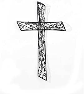 Dicksons Intertwined Vines 21 Inch Metal Decorative Hanging Wall Cross