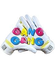 Battle Sports Gang Gang Football Receiver Gloves (White, Adult XL)