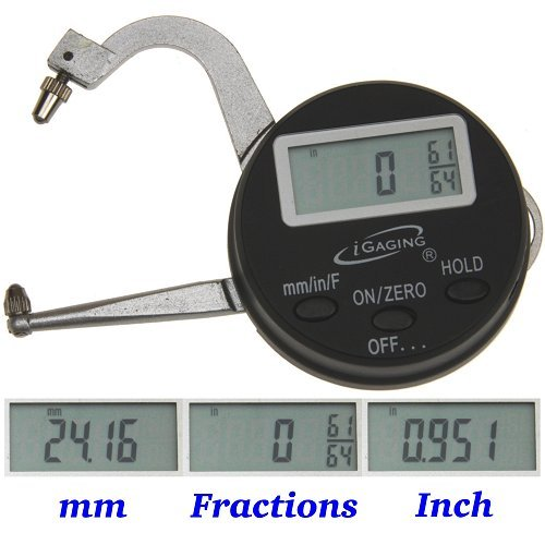 "iGaging Digital Electronic THICKNESS GAGE 0-1""/25mm MICROMETER CALIPER Inch/mm/Fractions"