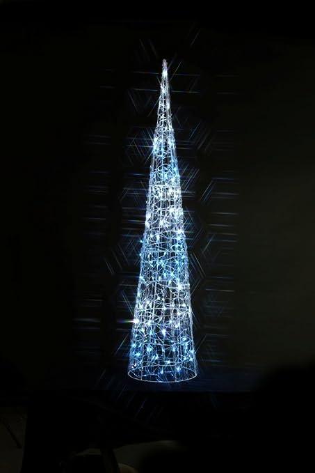 noma christmas novelty lights decoration white ice blue spun acrylic twinkling cone
