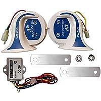 San Mocc Universal Digital Horn Set for Bikes and Cars (Set of 2)