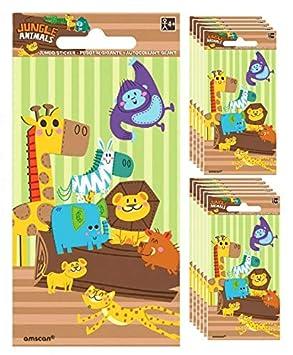 Dino Fun 5 1//2 x 2 3//4 Amscan 24 Dinosaur Sticker Sheets