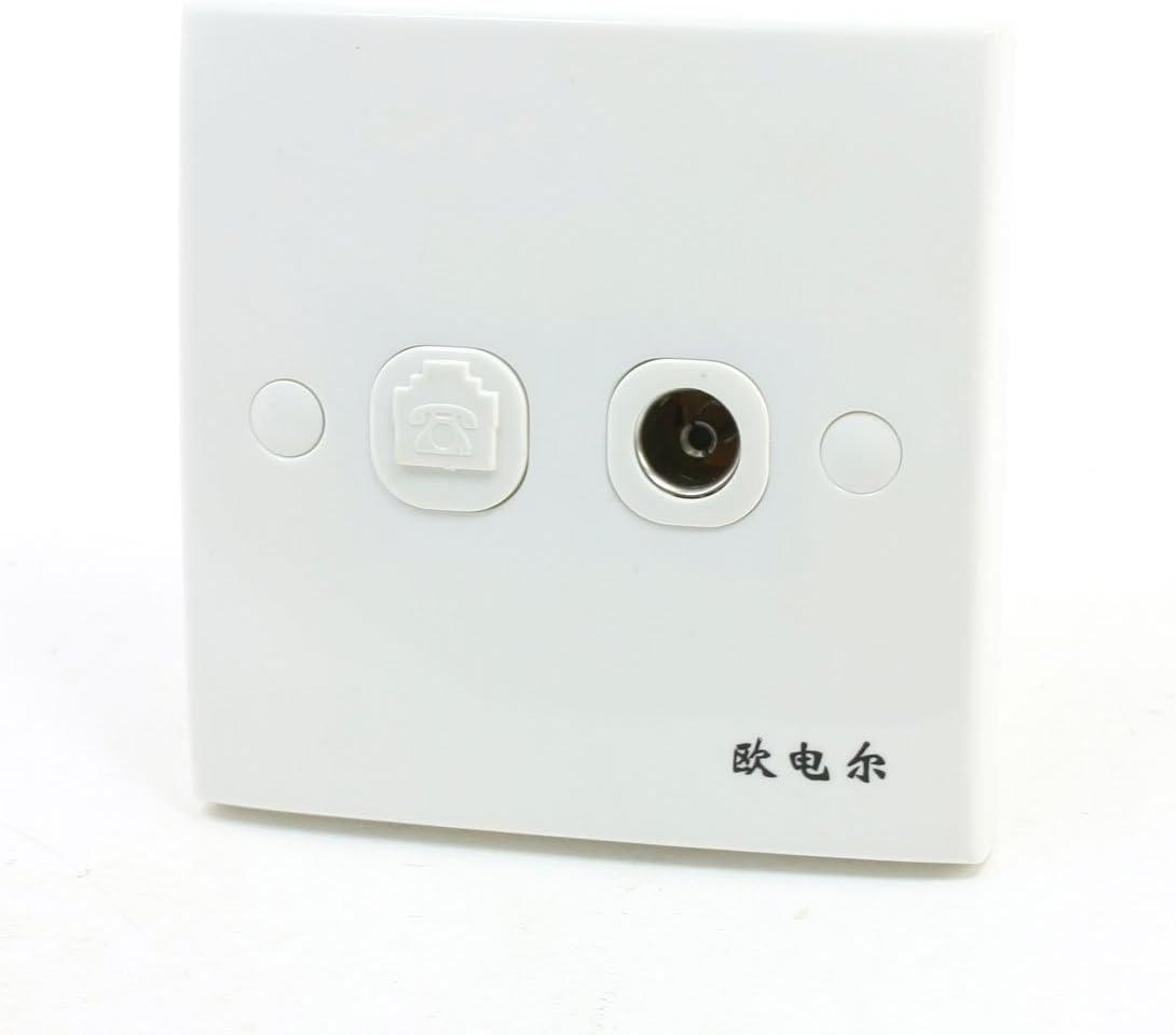 RJ11 6P4C doble para toma de antena de televisión de teléfono ...