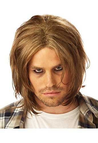 Costume Rocker Grunge (California Costumes Men's Grunge Wig, Dirty Blonde,One)