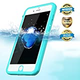 Effun iPhone 7/7 Plus Waterproof Case, IP68 Certified Waterproof Dustproof Snowproof Shockproof Case with Cell Phone Holder, PH Test Paper, Stylus Pen and Floating Strap Black/White/Pink/Aqua Blue