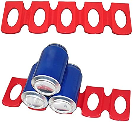 TrifyCore - Soporte para Botellas de Nevera, Antideslizante, apilable, Organizador, Rojo, Una Talla