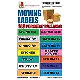 UBOXES identificar etiquetas móviles de traslado la caja contiene con 140 etiquetas, 11,43 cm x 2,54 cm cada uno (MOVINGLABS01)
