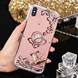 PHEZEN Case for iPhone Xs Max Mirror Case,Bling