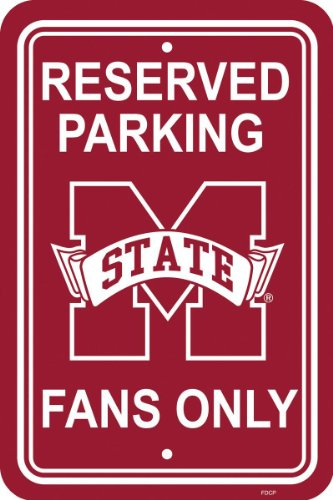 NCAA Mississippi State Bulldogs 12-by-18 inch Plastic Parking Sign (Sign Street Mississippi)
