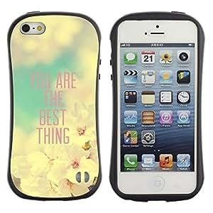 Suave TPU GEL Carcasa Funda Silicona Blando Estuche Caso de protección (para) Apple Iphone 5 / 5S / CECELL Phone case / / Girlfriend Apple Blossom Spring Quote /