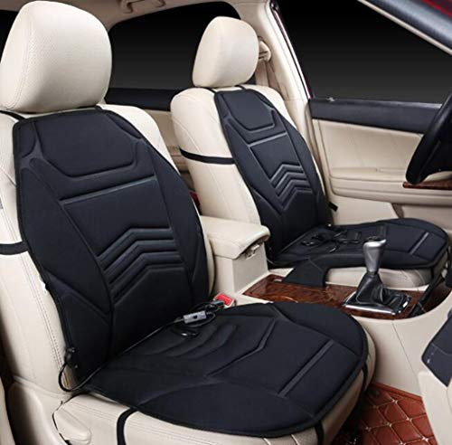 YZ-YUAN Car Heated Seat Cushion Comfortable 12V Auto Universal Car Seat Pad Hot Cover Warmer Pad in Winter,Back Comfort, Massage Therapy, Padded Home and Office Seat Cushion(1Pcs)