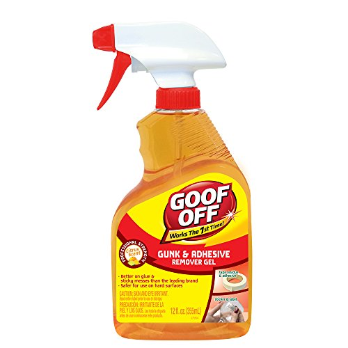 Goof Off FG790 Gunk & Adhesive Remover 12 Oz (Glue Gel Remover)