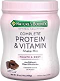 Nature's Bounty Optimal Solutions Complete Protein & Vitamin Shake Mix Chocolate 16 OZ – Buy Packs and SAVE (Pack of 2)