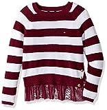 Tommy Hilfiger Big Girls' Pullover Fashion Sweater, Cranberry Jewel, X-Large