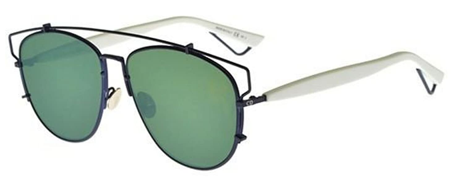 6ee23e15793 Amazon.com  Christian Dior TECHNOLOGIC TVC AF dark blue white green mirror  Sunglasses  Clothing