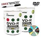 Smartbuy 200-disc 4.7GB/120min 16x DVD-R Shiny Silver Blank Media Record Disc + Black Permanent Marker