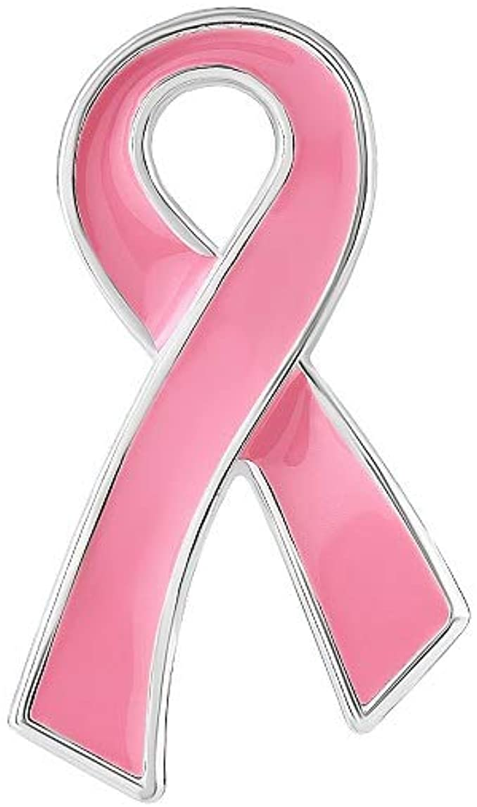 Breast Cancer Awareness Pink Ribbon Pin (1 Pin - Retail): Clothing