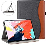 Ztotop for iPad Pro 12.9 Case 2018, Leather Folio Stand Case Smart Cover for 2018 iPad Pro 12.9-inch 3rd Generation (Supports iPad Pencil Charging) with Auto Sleep/Wake Strap Pocket - Dual Color