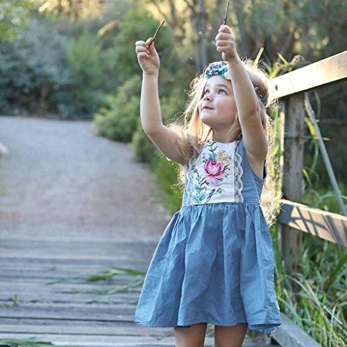 Vestido Azul Para Vaquero Floral Recién Manga Bautizo Bordadas Fiesta Princesa 5 12 Nacidos Verano Paolian Bebé Meses Niña Sin Faldas 2019 vestido Años 4dnwqdxB