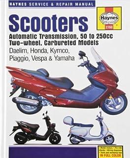 amazon com haynes manuals 2760 manual scooter 50 250cc automotive rh amazon com Gas Motor Scooter Repair Manuals Electric Scooter Manuals