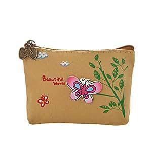 Kanggest Mujer Bolso Patrón de Mariposa Cremallera de Almacenamiento Billetera/Monedero/Bolso de la señora/Cartera Mujer pequeña Bolso
