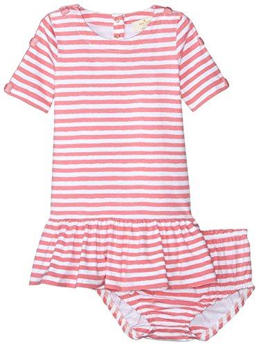 Girls' Bow Trimmed Dress, Berber Pink, 24 Months (Summer Spades)
