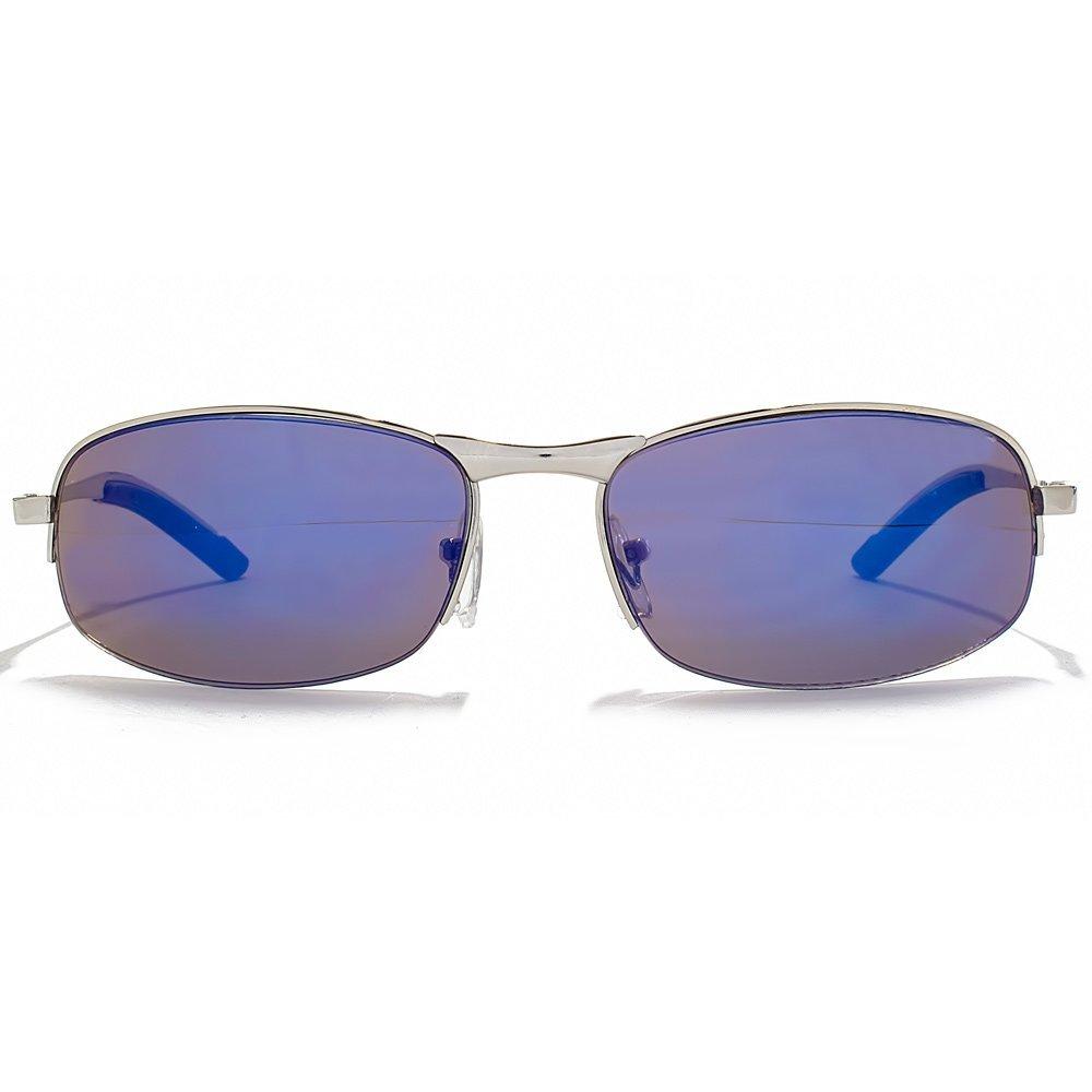 Glare Eyewear Seth Rimless Sunglasses in Silver with a Blue Mirror Lens 40151 Blue Revo One Size Blue Mirror Sd5lFKFrJ