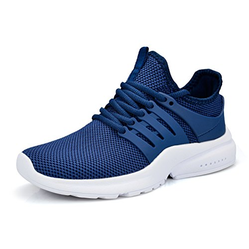 ZOCAVIA Women's Running Shoes Ultra Lightweight Breathable Mesh Sport Sneaker Casual Athletic Shoes(Blue/White,Size 7)
