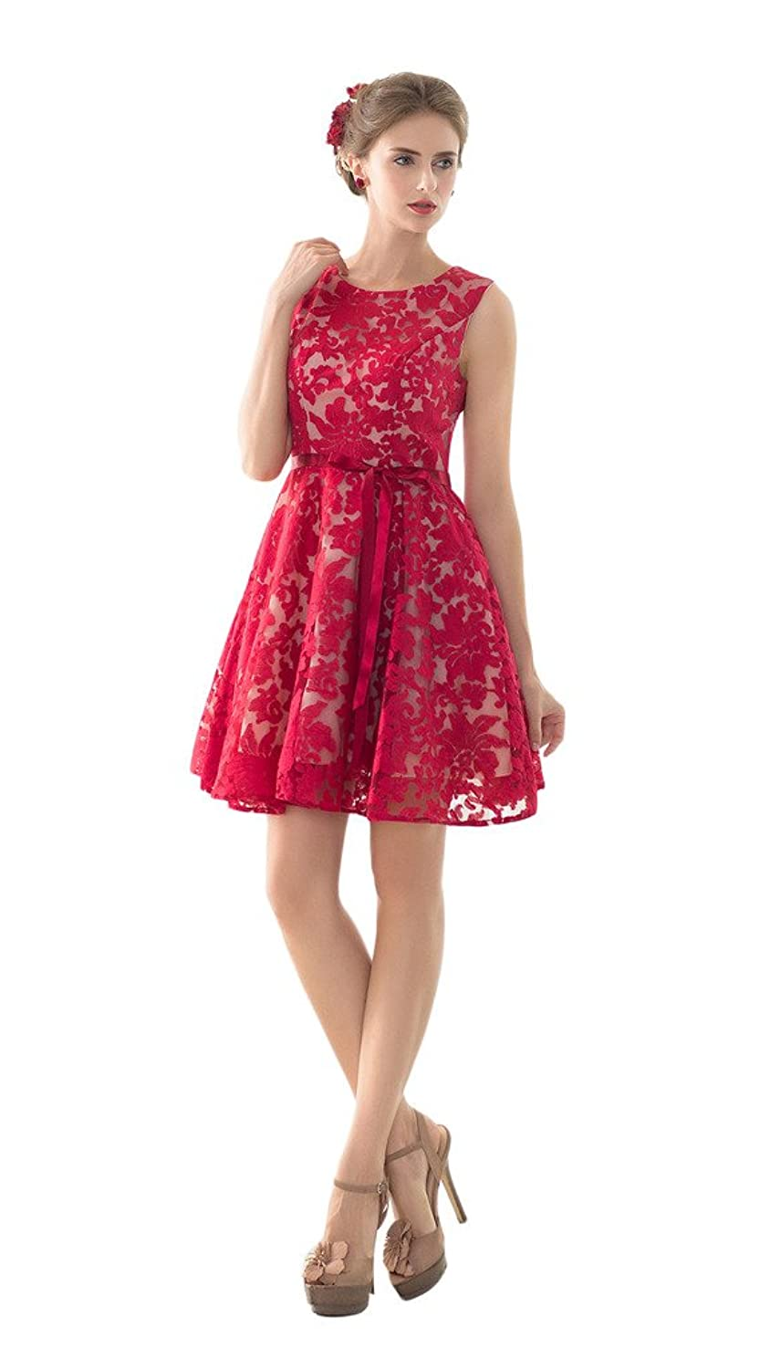 Vimans? 2016 Short Red Floral Quinceanera Dresses with Satin Sash for Girls