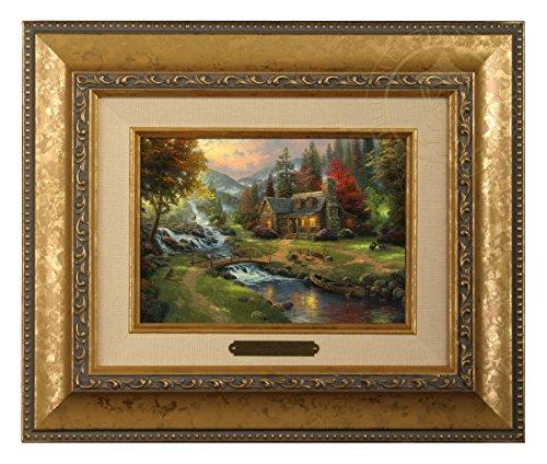Thomas Kinkade Mountain Paradise Brushwork (Gold Frame)
