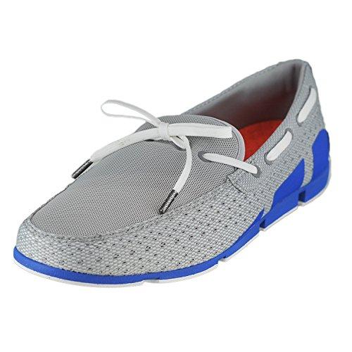 SWIMS Men's Breeze Lace Loafers, Grey/Blitz Blue, 7 D(M) US