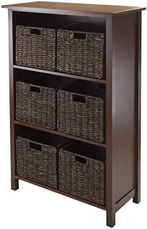 Winsome Granville 3-Section 7-Piece Storage Shelf with 6-Foldable Baskets