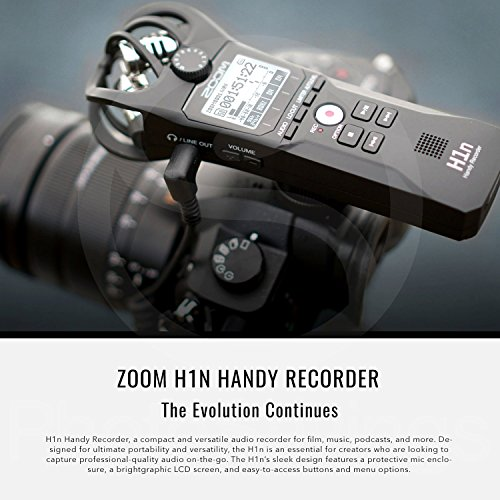 Zoom H1n Handy Recorder with Lavalier Mic Accessory Pack by Photo Savings (Image #1)