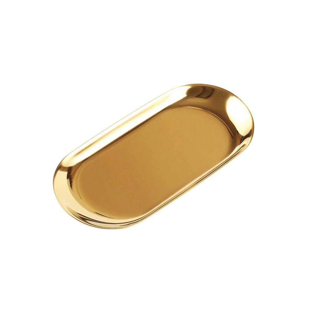 Bestonzon vassoio professionale in acciaio INOX 201Dental Medical piatto Lab strumento vassoio snack asciugamano vassoio taglia S (argento) Taglia 1 Silver