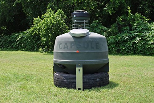 Capsule Ground Level Sit and Fill Deer Corn and Protein Feeder 800 lb. Capacity