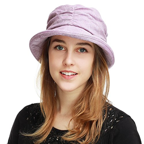 BLACK HORN Ladies Packable Women's Sun Beach Bucket Hat (Marie-Lavender) ()