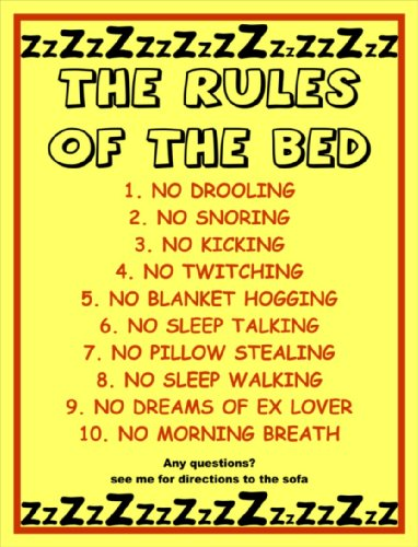The Rules Of The Bed Metal Sign