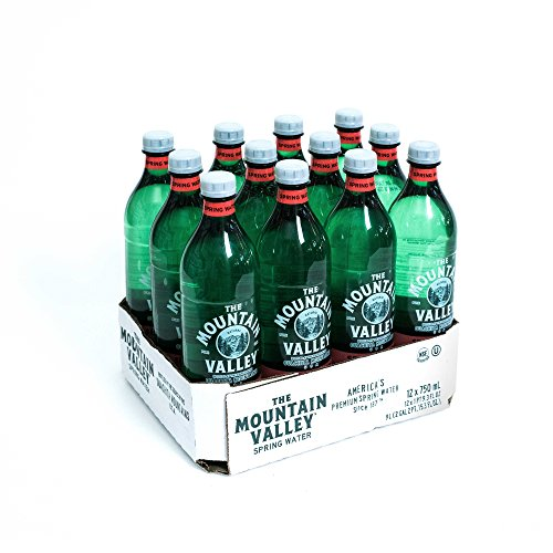 - MOUNTAIN VALLEY SPRING, Water, Spring, Plastic, Pack of 12, Size 750 ML