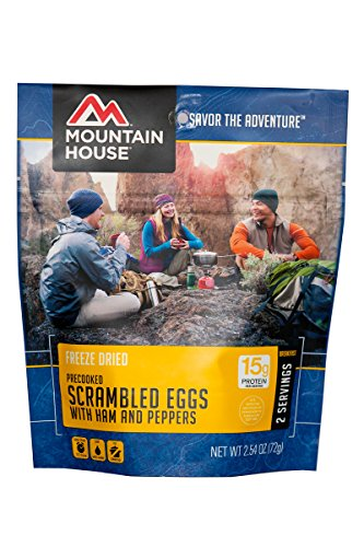 Mountain House Scrambled Eggs with Ham & Peppers (Mountain House Dehydrated Food)
