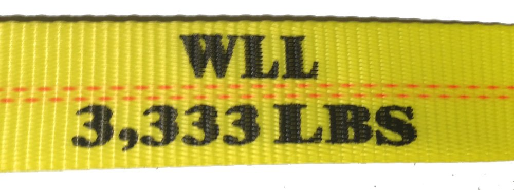 2'' x 30' Ratchet Strap with Flat Hook - Yellow