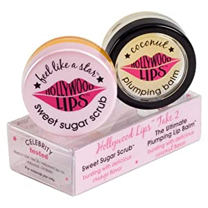 Hollywood Lips Take Two, Sweet Sugar Scrub & Coconut Lip Plumping Balm