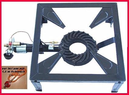 Wehmann Hornillo de gas (9,5 kw, incluye manguera y termostato)