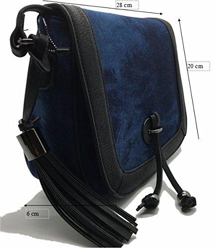 Frauen Taschen, Damen Handtaschen, Jeans & Leder Schulter Beutel