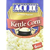 Act II Kettle Corn Microwave Popcorn (Pack of 6)