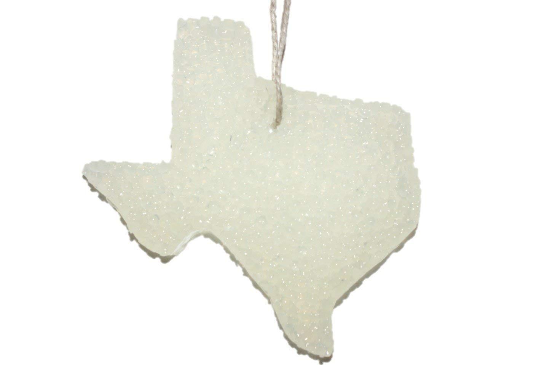 ChicWick Car Candle White Texas Shape Car Freshener Choose Fragrance
